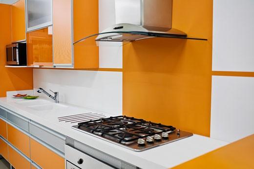 Stock Photo: 1825-4105 Interiors of a kitchen