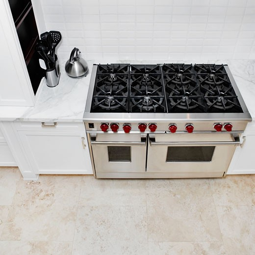 Stove in a kitchen : Stock Photo