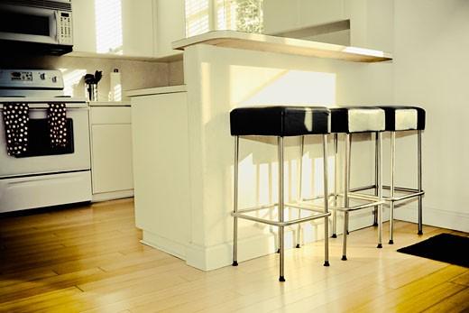 Interiors of a kitchen : Stock Photo