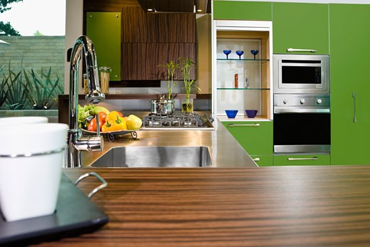 Stock Photo: 1825-4313 Interiors of the kitchen