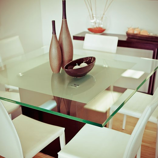 Stock Photo: 1825-4426 Interiors of a dining room