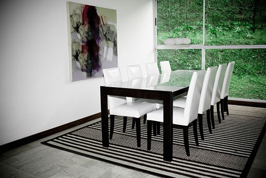 Interiors of a dining room : Stock Photo