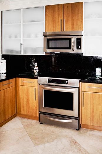 Stock Photo: 1825-4614 Interiors of a kitchen