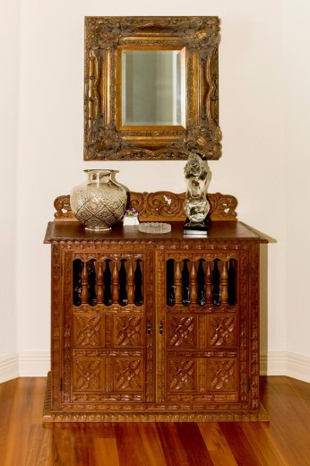 Stock Photo: 1825-4939 Show pieces on a sideboard