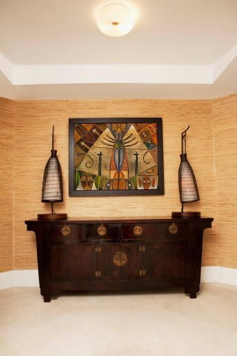 Stock Photo: 1825-4940 Cabinet in the living room