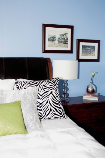 Stock Photo: 1825-5051 Interiors of a bedroom