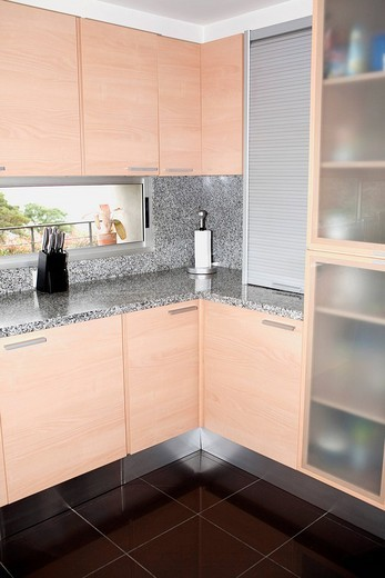 Stock Photo: 1825-5468 Interiors of a kitchen