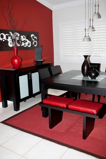 Stock Photo: 1825-5858 Interiors of a dining room