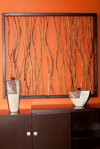 Close_up of a showpiece on a sideboard : Stock Photo