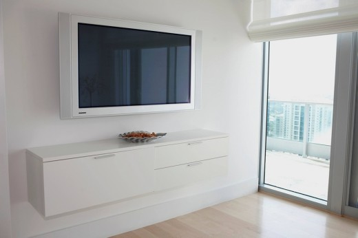 Stock Photo: 1825-6040 Plasma television in a house