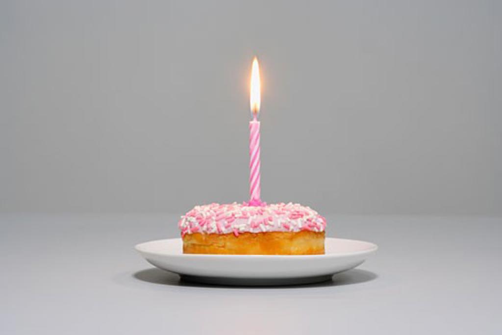 Stock Photo: 1828R-10306 Birthday Cupcake