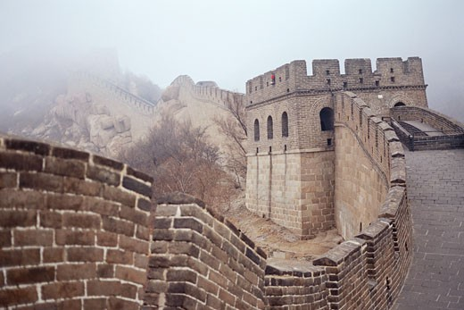 Stock Photo: 1828R-11050 Great Wall of China, China