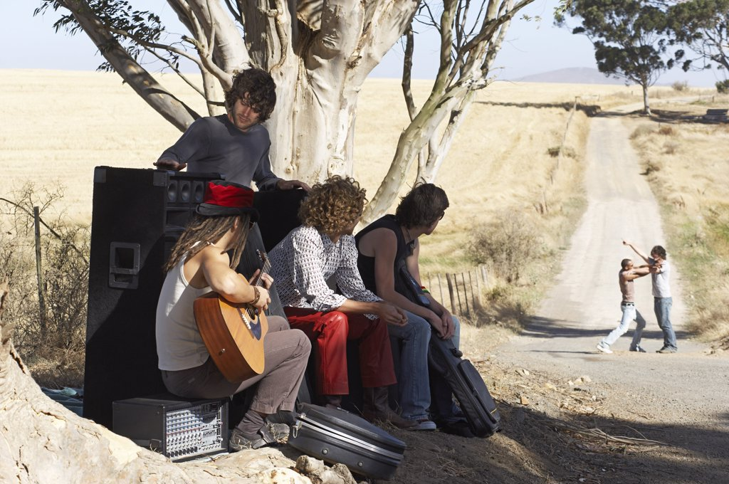 Stock Photo: 1828R-11161 Stranded Rock Band