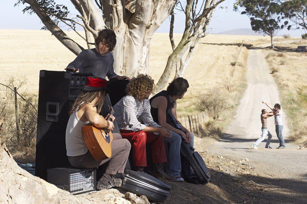 Stranded Rock Band    : Stock Photo