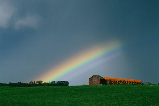 Stock Photo: 1828R-1210 Rainbow Alberta, Canada