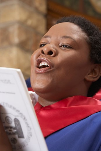 Stock Photo: 1828R-13170 Gospel Choir