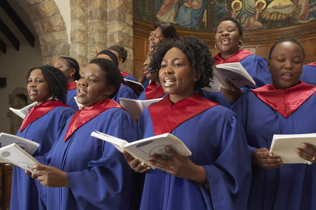 Stock Photo: 1828R-13172 Gospel Choir