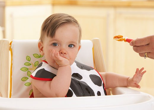 Stock Photo: 1828R-13958 Baby Being Fed