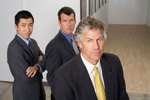Stock Photo: 1828R-14911 Group Portrait of Businessmen