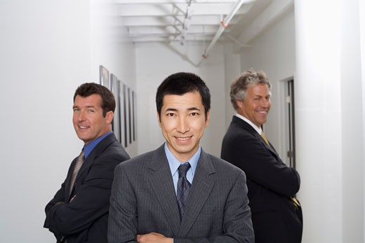 Stock Photo: 1828R-14913 Group Portrait of Businessmen