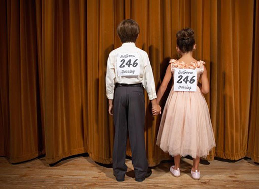 Stock Photo: 1828R-14960 Boy and Girl Ballroom Dancing