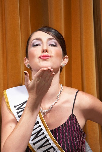 Stock Photo: 1828R-14977 Portrait of Woman in Beauty Pageant