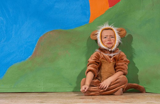 Girl Dressed as Lion    : Stock Photo