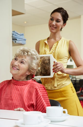 Women at Hair Salon    : Stock Photo
