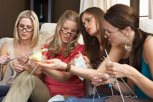 Stock Photo: 1828R-15638 Women Knitting
