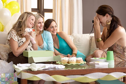 Stock Photo: 1828R-15647 Women at Baby Shower