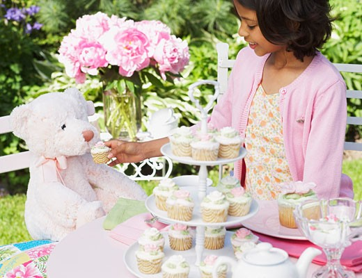 Girl at Tea Party    : Stock Photo