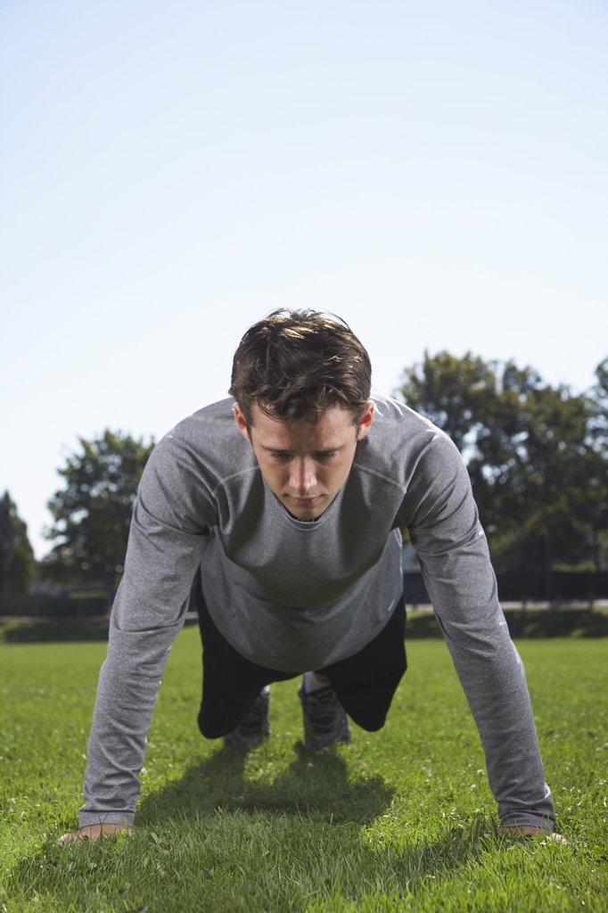 Man Doing Push Ups    : Stock Photo