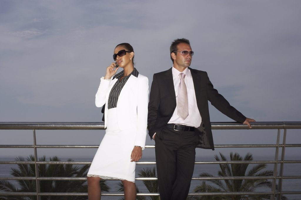 Stock Photo: 1828R-15926 Businesspeople Outdoors