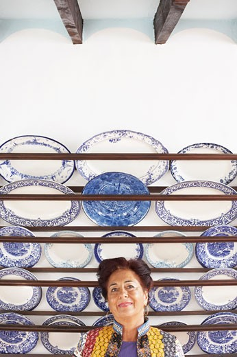 Stock Photo: 1828R-16092 Woman by Plate Collection