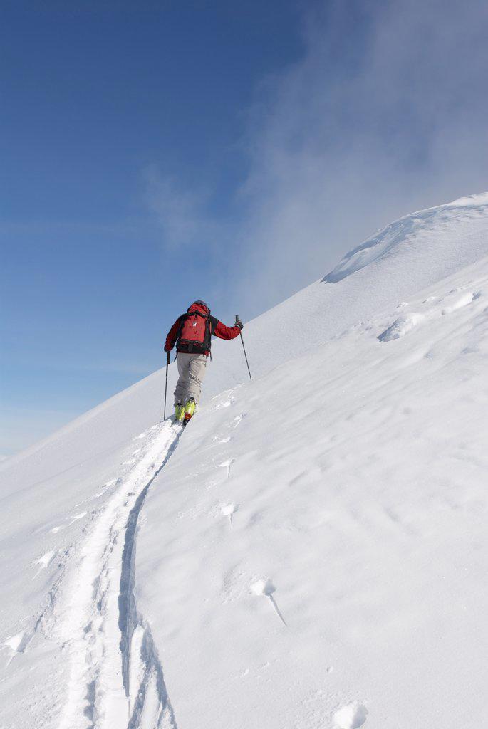 Backcountry Skiing, British Columbia, Canada    : Stock Photo