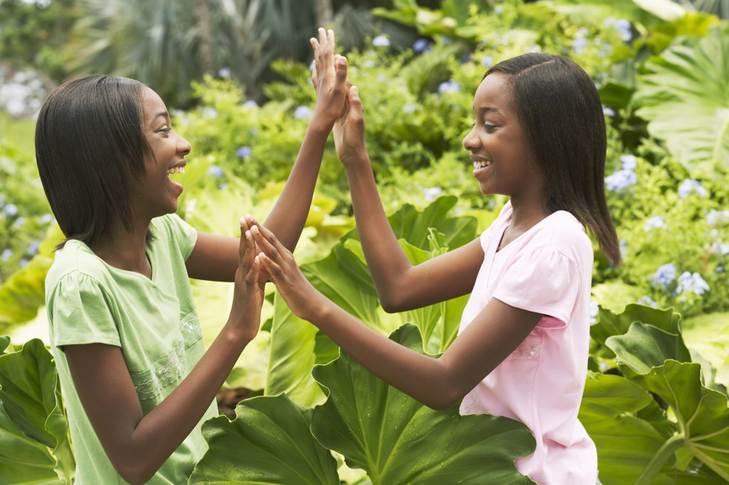 Stock Photo: 1828R-16539 Twin Sisters Outdoors