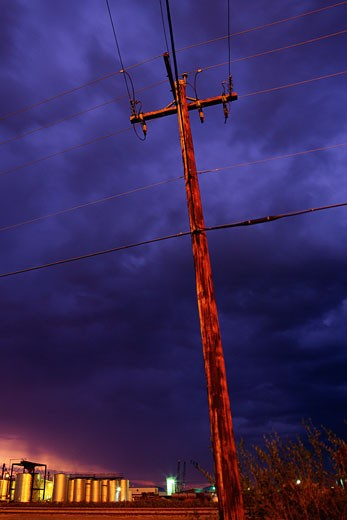Electrical Pole Near Edmonton, Alberta, Canada    : Stock Photo