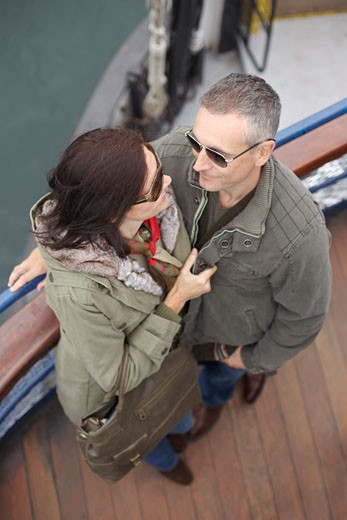 Stock Photo: 1828R-18469 Portrait of Couple on Ferry