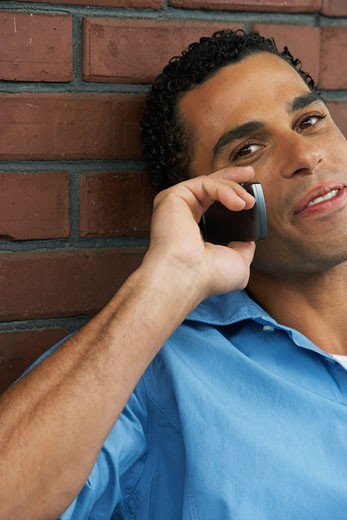Stock Photo: 1828R-18646 Man Talking on Cellular Phone