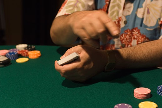 Stock Photo: 1828R-18726 Playing Poker
