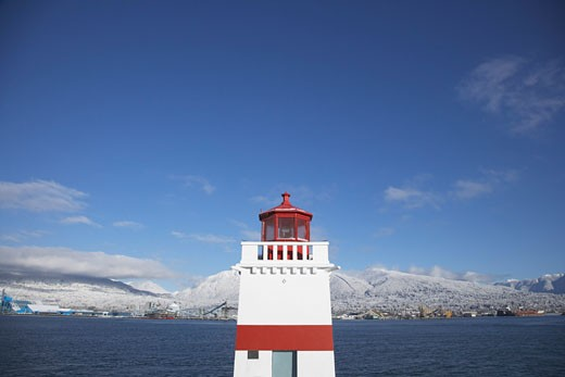 Stock Photo: 1828R-18917 Brockton Point Lighthouse, Stanley Park, Vancouver,  British Columbia, Canada