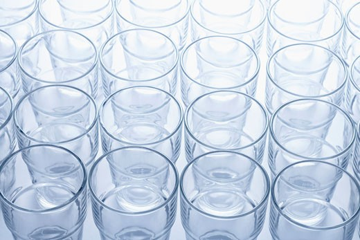 Stock Photo: 1828R-19625 Empty Glasses