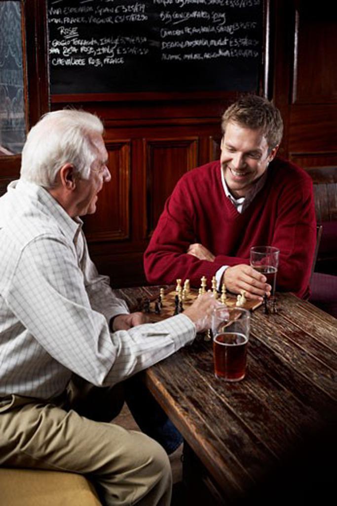 Stock Photo: 1828R-19797 Men in Pub