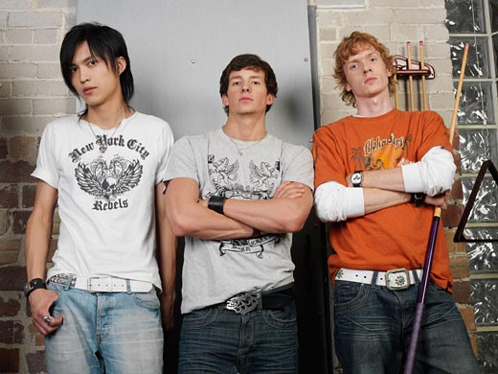 Men at Pool Hall    : Stock Photo