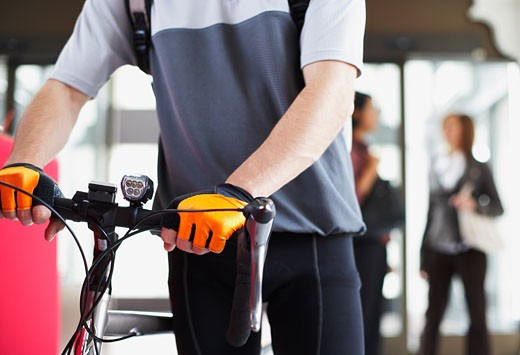 Stock Photo: 1828R-19974 Bike Courier