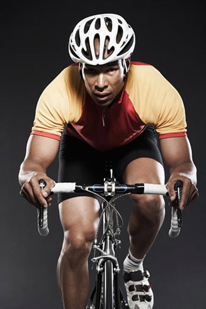Stock Photo: 1828R-20233 Man Cycling