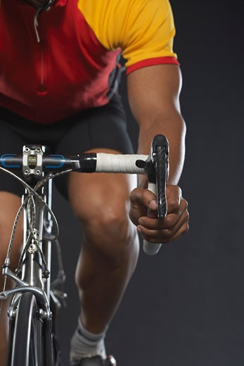 Stock Photo: 1828R-20234 Man Cycling