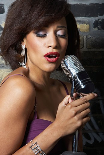 Stock Photo: 1828R-20598 Portrait of Singer