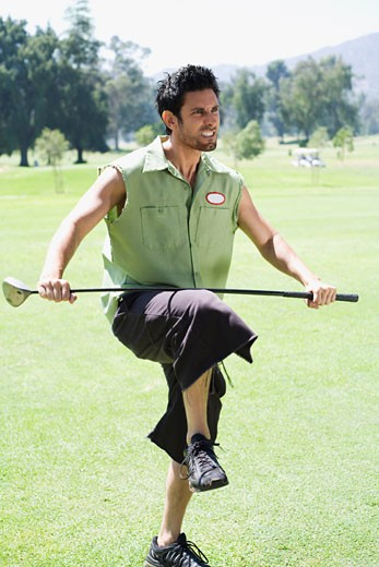 Stock Photo: 1828R-20701 Angry Golfer