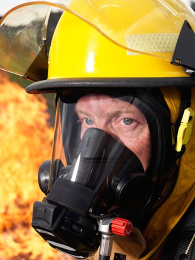 Stock Photo: 1828R-21177 Portrait of Firefighter